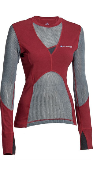 Klättermusen W's Grid Net Sweater Burnt Russet